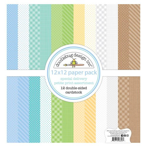 Doodlebug Design - Special Delivery Collection - 12 x 12 Paper Pack - Petite Print