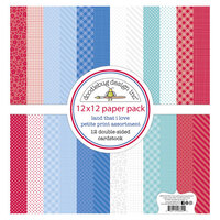 Doodlebug Design - Land That I Love Collection - 12 x 12 Paper Pack - Petite Print