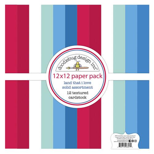 Doodlebug Design - Land That I Love Collection - Textured Cardstock Assortment Pack
