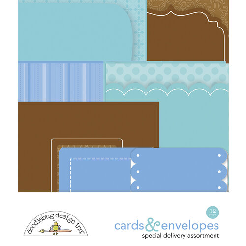 Doodlebug Design - Special Delivery Collection - Cards and Envelopes