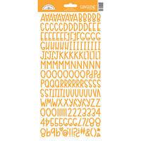 Doodlebug Design - Monochromatic Collection - Cardstock Stickers - Tangerine Sunshine