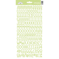 Doodlebug Design - Monochromatic Collection - Cardstock Stickers - Limeade Sunshine