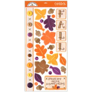 Doodlebug Design - Cardstock Stickers - Shades of Fall
