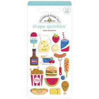 Doodlebug Designs - Bar-B-Cute Collection - Self Adhesive Shape Sprinkles - Taste Of Summer