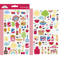 Doodlebug Design - Bar-B-Cute Collection - Cardstock Stickers - Mini Icons
