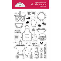 Doodlebug Design - Bar-B-Cute Collection - Clear Photopolymer Stamps