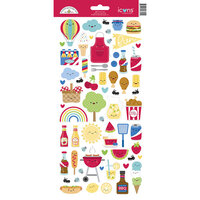 Doodlebug Designs - Bar-B-Cute Collection - Cardstock Stickers - Icons