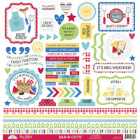 Doodlebug Design - Bar-B-Cute Collection - 12 x 12 Cardstock Stickers - This and That