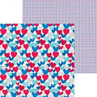 Doodlebug Design - Land That I Love Collection - 12 x 12 Double Sided Paper - America The Beautiful