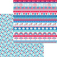 Doodlebug Designs - Land That I Love Collection - 12 x 12 Double Sided Paper - Polka-Dot Parade