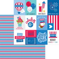 Doodlebug Designs - Land That I Love Collection - 12 x 12 Double Sided Paper - Summer Streamers