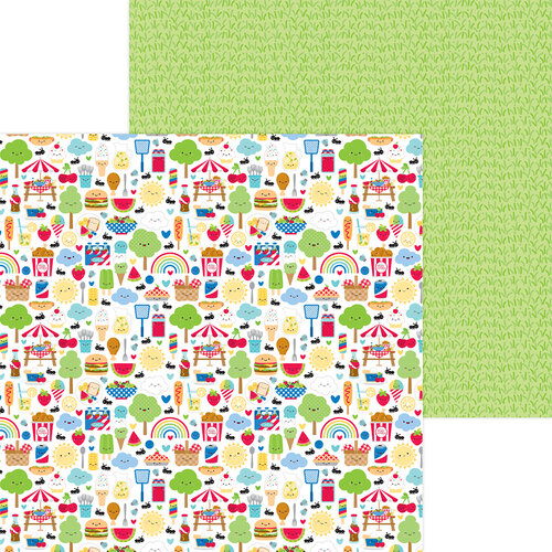 Doodlebug Design - Bar-B-Cute Collection - 12 x 12 Double Sided Paper - Bar-B-Cute
