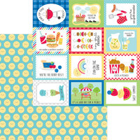 Doodlebug Designs - Bar-B-Cute Collection - 12 x 12 Double Sided Paper - Summer Sun