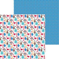 Doodlebug Designs - Bar-B-Cute Collection - 12 x 12 Double Sided Paper - Picnic In The Park