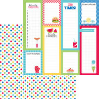 Doodlebug Designs - Bar-B-Cute Collection - 12 x 12 Double Sided Paper - Picnic Spot