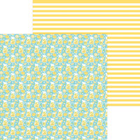 Doodlebug Design - Bar-B-Cute Collection - 12 x 12 Double Sided Paper - Fresh Lemonade