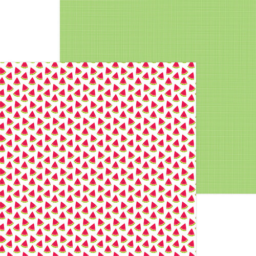 Doodlebug Design - Bar-B-Cute Collection - 12 x 12 Double Sided Paper - Slice Of Summer