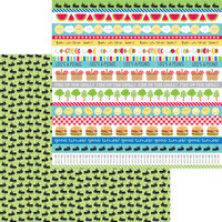 Doodlebug Designs - Bar-B-Cute Collection - 12 x 12 Double Sided Paper - Picnic Parade