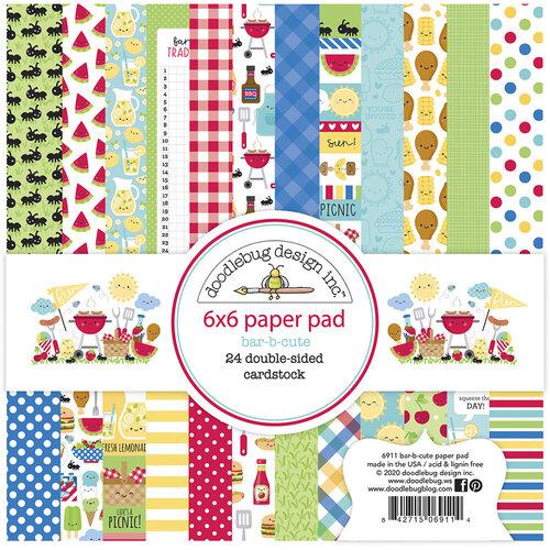 Doodlebug Design - Bar-B-Cute Collection - 6 x 6 Paper Pad