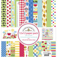 Doodlebug Designs - Bar-B-Cute Collection - 12 x 12 Paper Pack