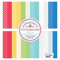 Doodlebug Designs - Bar-B-Cute Collection - 12 x 12 Paper Pack - Petite Print