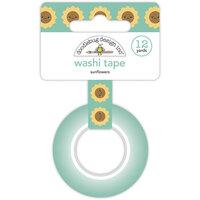 Doodlebug Design - Pumpkin Spice Collection - Washi Tape - Sunflowers