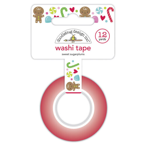Doodlebug Design - Night Before Christmas Collection - Washi Tape - Sweet Sugarplums