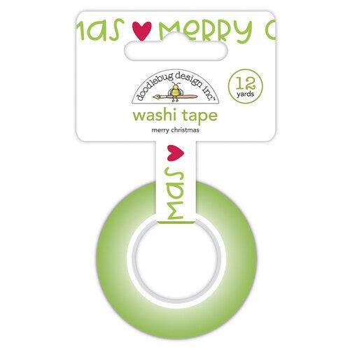 Doodlebug Design - Night Before Christmas Collection - Washi Tape - Merry Christmas
