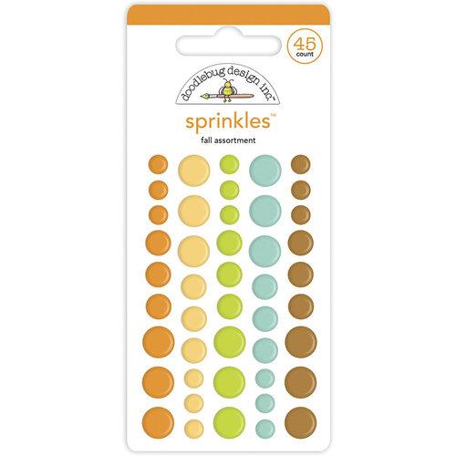 Doodlebug Design - Pumpkin Spice Collection - Self Adhesive Assortment Sprinkles - Fall