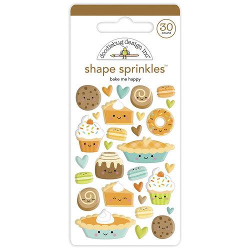 Doodlebug Design - Pumpkin Spice Collection - Self Adhesive Shape Sprinkles - Bake Me Happy