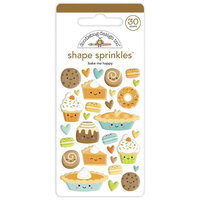 Doodlebug Design - Pumpkin Spice Collection - Self Adhesive Shape Sprinkles - Bake Me Happy