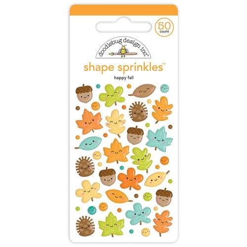 Doodlebug Design - Pumpkin Spice Collection - Self Adhesive Shape Sprinkles - Happy Fall