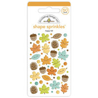 Doodlebug Design - Pumpkin Spice Collection - Self Adhesive Shape Sprinkles - Happy Fall