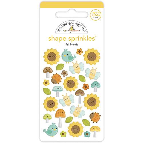 Doodlebug Design - Pumpkin Spice Collection - Self Adhesive Shape Sprinkles - Fall Friends