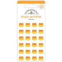 Doodlebug Design - Ghost Town Collection - Self Adhesive Shape Sprinkles - Sweet Corn