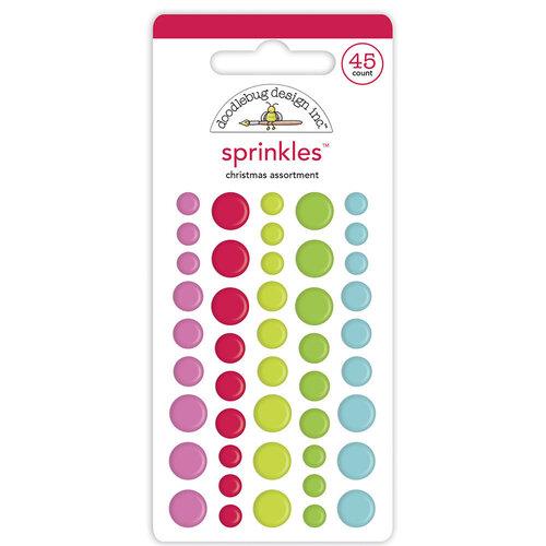Doodlebug Design - Night Before Christmas Collection - Self Adhesive Shape Sprinkles - Christmas