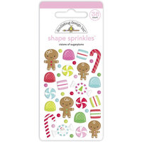 Doodlebug Design - Night Before Christmas Collection - Self Adhesive Shape Sprinkles - Visions of Sugarplums