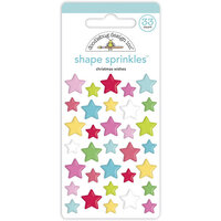 Doodlebug Design - Night Before Christmas Collection - Self Adhesive Shape Sprinkles - Christmas Wishes