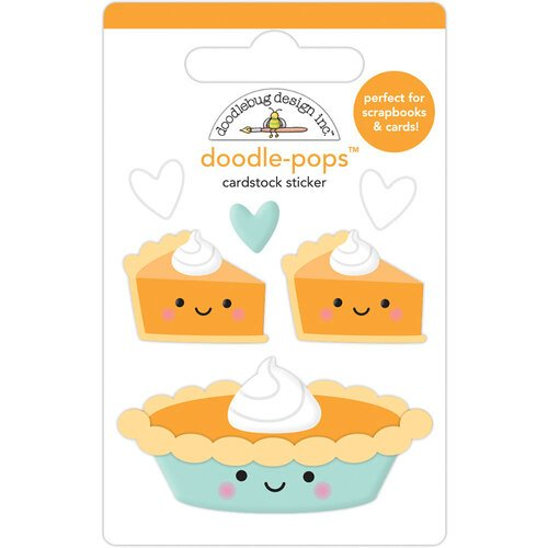 Doodlebug Design - Pumpkin Spice Collection - Doodle-Pops - Pumpkin Pie