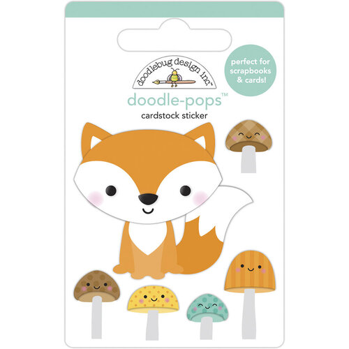 Doodlebug Design - Pumpkin Spice Collection - Doodle-Pops - Fox and Friends