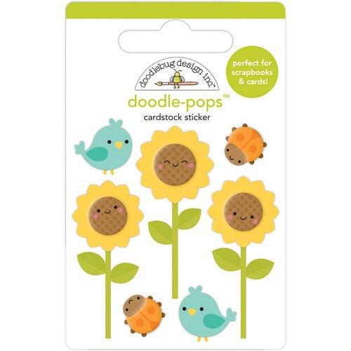 Doodlebug Design - Pumpkin Spice Collection - Doodle-Pops - Sunflowers