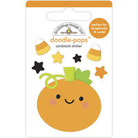 Doodlebug Design - Ghost Town Collection - Doodle-Pops - Roly Poly Pumpkin