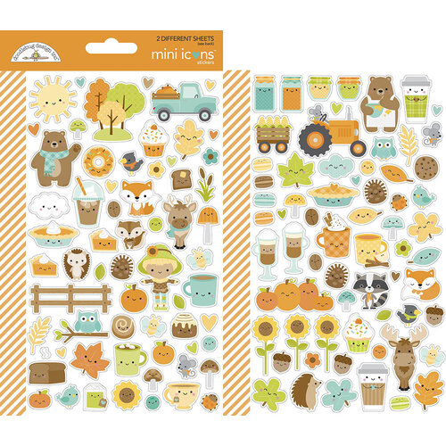 Doodlebug Design - Pumpkin Spice Collection - Cardstock Stickers - Mini Icons