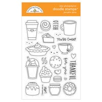 Doodlebug Design - Pumpkin Spice Collection - Clear Photopolymer Stamps - Pumpkin Spice
