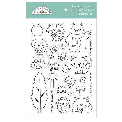 Doodlebug Design - Pumpkin Spice Collection - Clear Photopolymer Stamps - Forest Friends