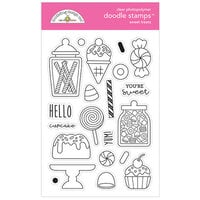 Doodlebug Design - Ghost Town Collection - Clear Photopolymer Stamps - Sweet Treats