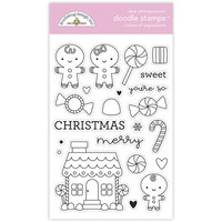 Doodlebug Design - Night Before Christmas Collection - Clear Photopolymer Stamps - Visions of Sugarplums