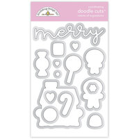 Doodlebug Design - Night Before Christmas Collection - Dies - Visions of Sugarplums