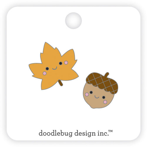 Doodlebug Design - Pumpkin Spice Collection - Collectable Pins - Fall Friends