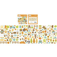 Doodlebug Designs - Pumpkin Spice Collection - Odds and Ends - Die Cut Cardstock Pieces
